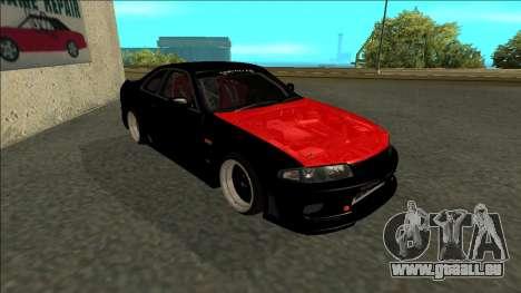 Nissan Skyline R33 Monster Energy pour GTA San Andreas laissé vue