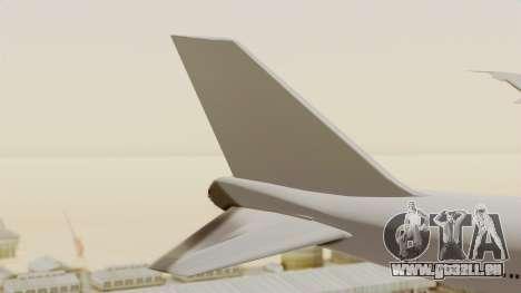 Boeing 747 Template pour GTA San Andreas sur la vue arrière gauche