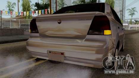 GTA 5 Declasse Asea pour GTA San Andreas vue de dessus