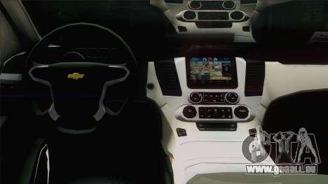 Chevrolet Suburban FSB pour GTA San Andreas vue intérieure