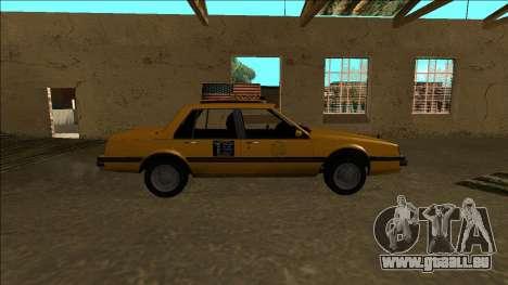 Willard Taxi für GTA San Andreas Innenansicht