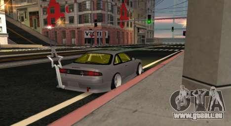 Nissan Silvia S14 JDM v0.1 pour GTA San Andreas laissé vue