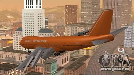 Boeing 747 Braniff für GTA San Andreas linke Ansicht