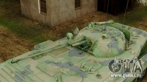 CoD 4 MW 2 BMP-2 Woodland pour GTA San Andreas vue arrière