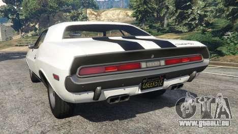 GTA 5 Dodge Challenger RT 440 1970 v1.0 arrière vue latérale gauche