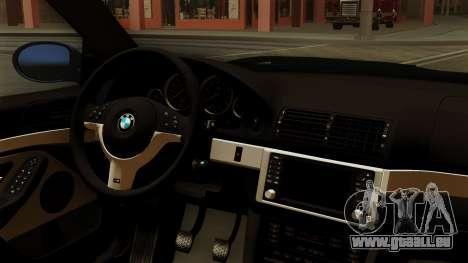 BMW M5 E39 Bucharest pour GTA San Andreas vue de droite