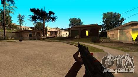 L'AK-47 de la Ligne Rouge de CS:GO pour GTA San Andreas quatrième écran