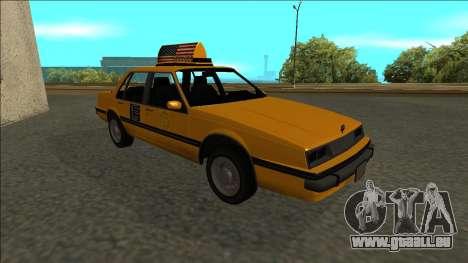 Willard Taxi für GTA San Andreas Seitenansicht
