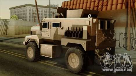 MRAP Cougar 4x4 pour GTA San Andreas laissé vue