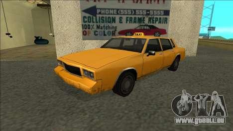 Tahoma Taxi pour GTA San Andreas
