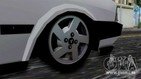 LV Copcar Civil pour GTA San Andreas sur la vue arrière gauche