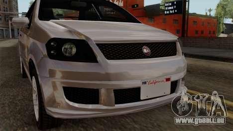 GTA 5 Declasse Asea pour GTA San Andreas vue arrière