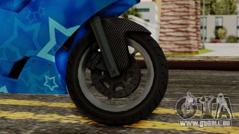 Bati VIP Star Motorcycle für GTA San Andreas zurück linke Ansicht