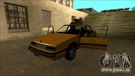 Willard Taxi für GTA San Andreas Unteransicht