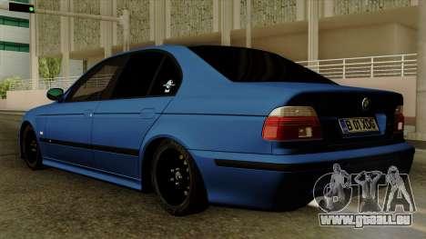 BMW M5 E39 Bucharest pour GTA San Andreas laissé vue