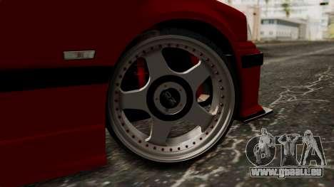 BMW M3 E36 Strike für GTA San Andreas zurück linke Ansicht