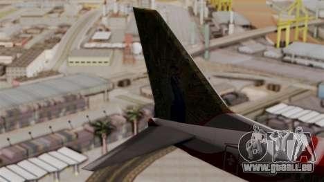 Boeing 737-800 Air India Express für GTA San Andreas zurück linke Ansicht