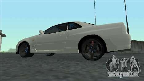 Nissan Skyline R34 Drift für GTA San Andreas Innenansicht