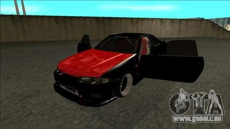 Nissan Skyline R33 Monster Energy pour GTA San Andreas vue arrière