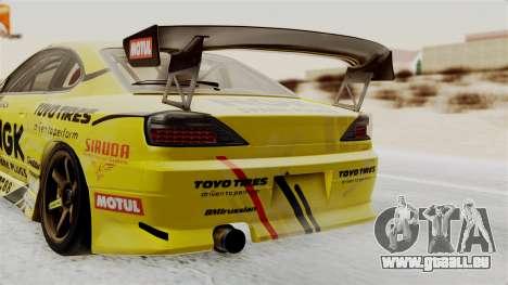 Nissan Silvia S15 RDS NGK für GTA San Andreas Rückansicht