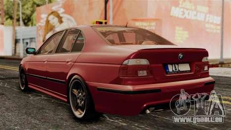 BMW 530D E39 2001 Mtech pour GTA San Andreas laissé vue