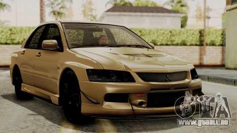Mitsubishi Lancer Evolution IX MR 2006 für GTA San Andreas