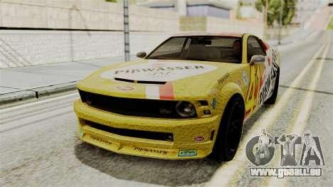 GTA 5 Vapid Dominator IVF für GTA San Andreas Innenansicht