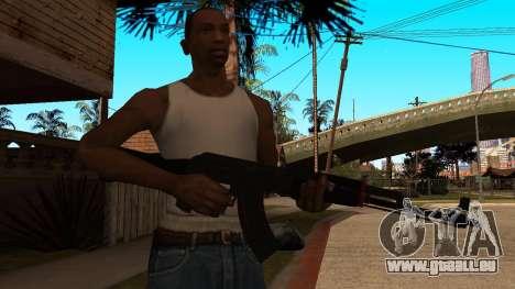 L'AK-47 de la Ligne Rouge de CS:GO pour GTA San Andreas troisième écran