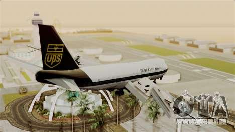 Boeing 747-100 UPS Old für GTA San Andreas linke Ansicht