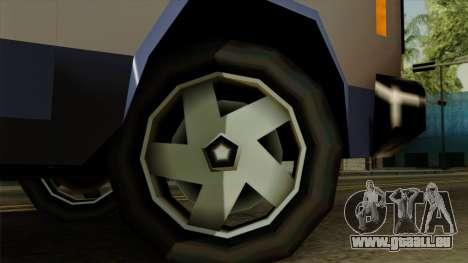 Bobcat from Vice City Stories IVF pour GTA San Andreas sur la vue arrière gauche