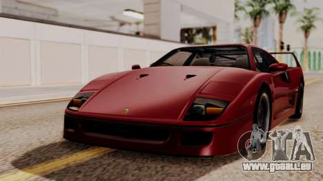 Ferrari F40 1987 without Up Lights HQLM pour GTA San Andreas