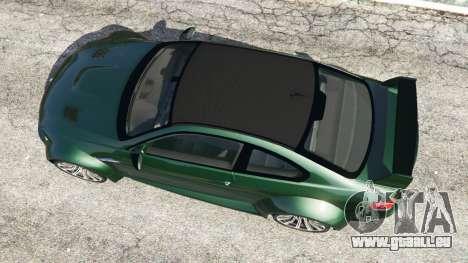GTA 5 BMW M3 (E92) WideBody vue arrière