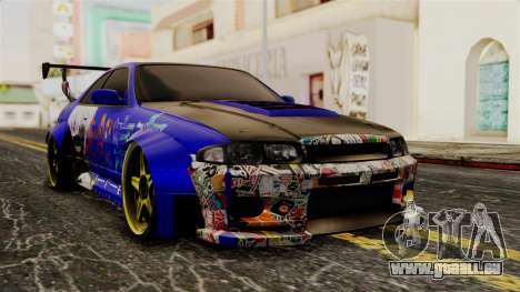 Nissan Skyline R33 Widebody Itasha pour GTA San Andreas