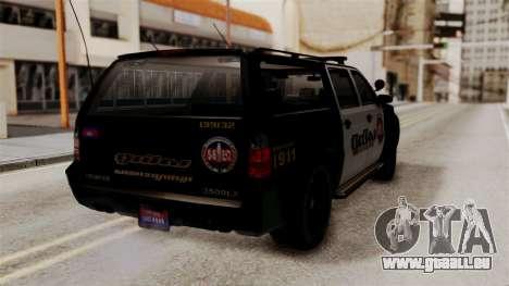 Sheriff Granger Police GTA 5 pour GTA San Andreas laissé vue
