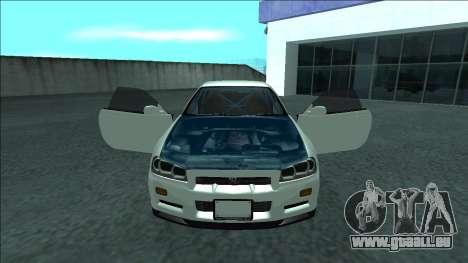 Nissan Skyline R34 Drift für GTA San Andreas Innen