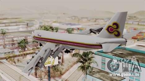 Boeing 747-200 Thai Airways für GTA San Andreas linke Ansicht
