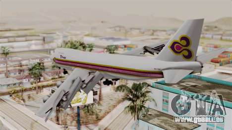 Boeing 747-200 Thai Airways pour GTA San Andreas laissé vue