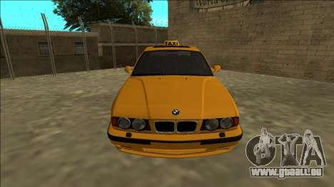 BMW M5 E34 Taxi für GTA San Andreas rechten Ansicht
