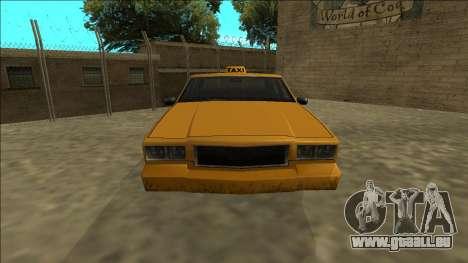 Tahoma Taxi pour GTA San Andreas vue de droite
