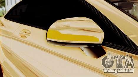 Brabus 850 Gold für GTA San Andreas obere Ansicht