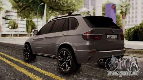 BMW X5M pour GTA San Andreas laissé vue