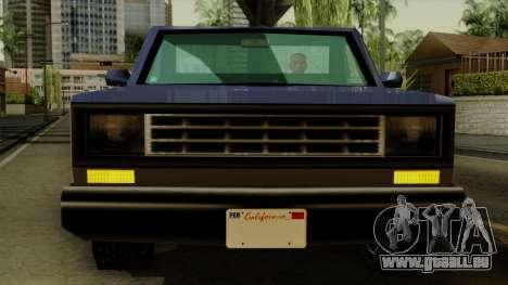 Bobcat from Vice City Stories IVF pour GTA San Andreas vue intérieure