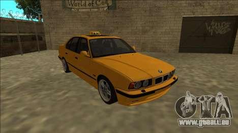 BMW M5 E34 Taxi für GTA San Andreas Rückansicht