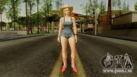 Dead Or Alive 5 Tina Overalls pour GTA San Andreas deuxième écran