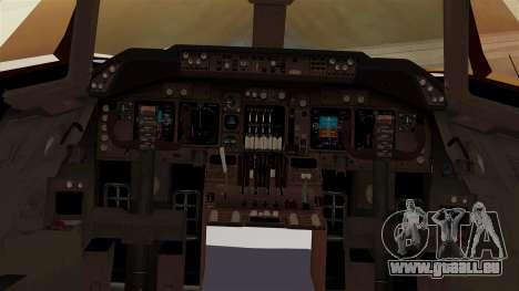 Boeing 747-100 UPS Old pour GTA San Andreas vue intérieure