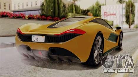 GTA 5 Progen T20 IVF für GTA San Andreas linke Ansicht