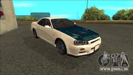 Nissan Skyline R34 Drift pour GTA San Andreas laissé vue
