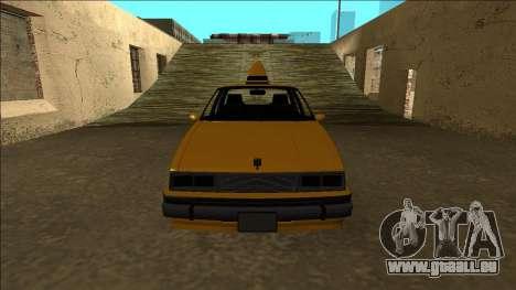 Willard Taxi für GTA San Andreas obere Ansicht