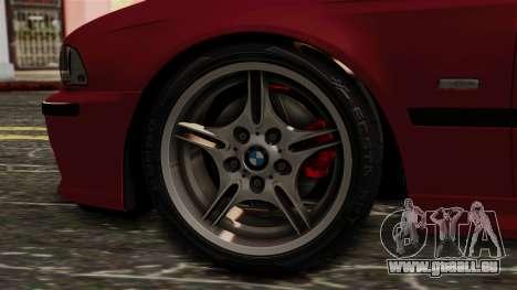 BMW 530D E39 2001 Mtech pour GTA San Andreas sur la vue arrière gauche