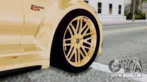 Brabus 850 Gold pour GTA San Andreas sur la vue arrière gauche